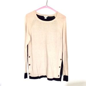 Women's J. Crew tan and black sweater size S